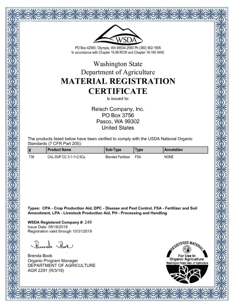 249 WSDA Organic Registration 20180813-1