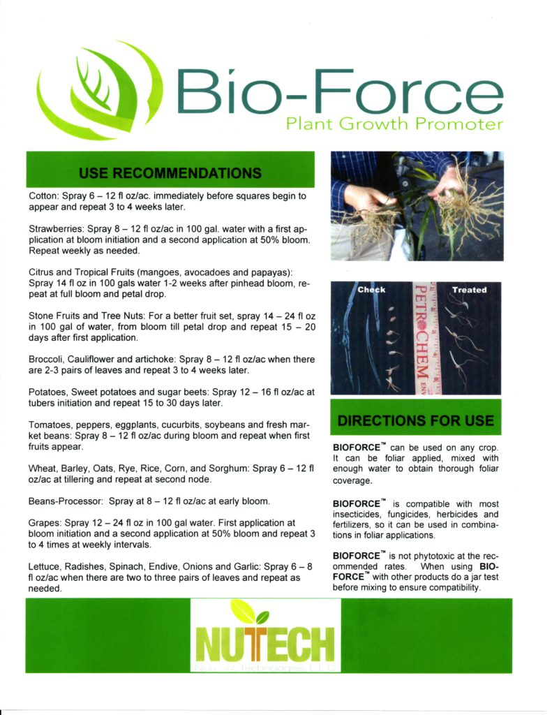 Bio Force Label 2